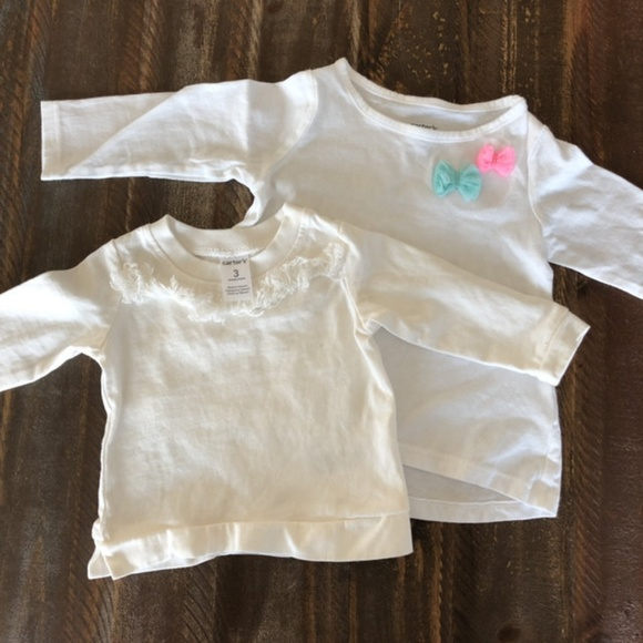 Carter's Other - *3/$10* White Long Sleeved Tops